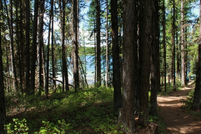 Approaching Clearwater Lake near trails end 5//24/17