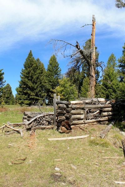 First of several structures seen upon entering Coloma (ghost town) Montana