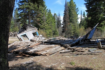 Collapsed building near the main part of Coloma (ghost town)