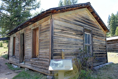 The Adams house was built between 1896 and 1900.  It was among the nicer homes in Garnet although constructed from logs, not boards as it appears.  The family lived there from 1904 to 1927.  Mrs. Adams had the Post Office in the house until 1910.  Garnet Ghost Town, MT