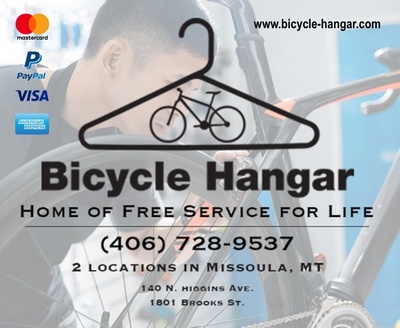 The Bicycle Hangar - Home of Free Service for Life - 2 Locations in Missoula, MT 140 N. Higgins Ave, 1801 Brooks St. 406-728-9537