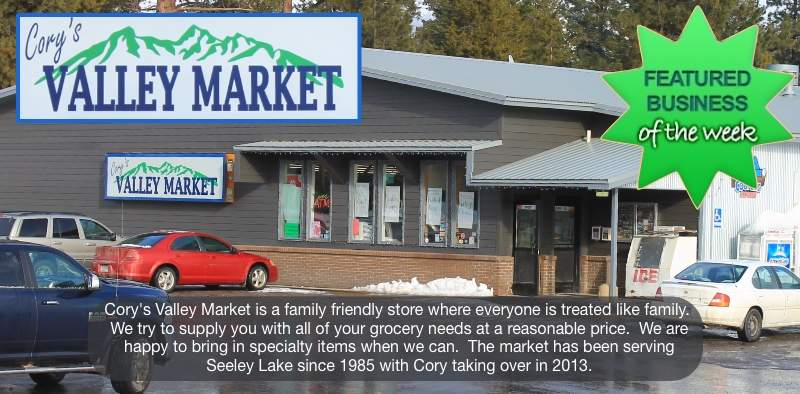 Cory's Valley Market - 3002 Hwy 83 South - PO Box 570 - Seeley Lake, MT 59868 - Owner: Cory Thompson 406-677-2121