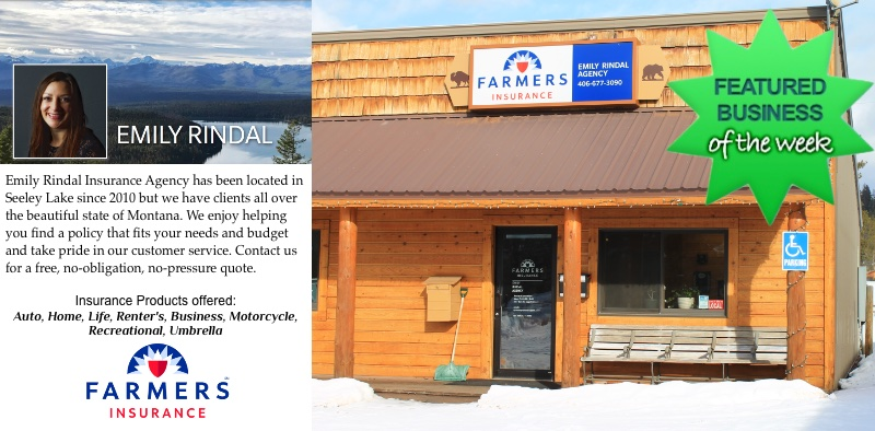 Seeley Lake  Emily Rindal - Your local agent with Farmer's Insurance - seeleylakelife.com
