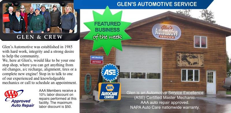 Seeley Lake Featured Business of the Week (week ending Feb. 10, 2018) Glen's Automotive Hwy. 83 Seeley Lake, MT - seeleylakelife.com