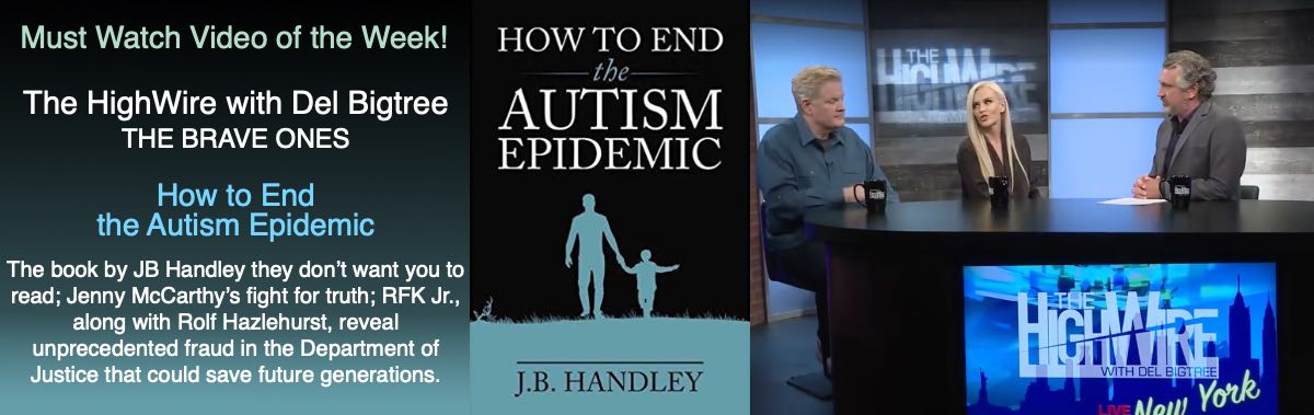 The HighWire with DelBigtree - The Brave Ones - The book by JB Handley they don't want you to read - How to End the Autism Epidemic
