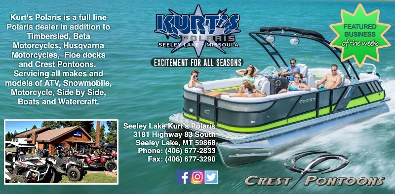 Kurt's Polaris - Featured Business of the Week (week ending March 31, 2018). - Excitement for All Seasons - Kurt's Polaris is a full line Polaris dealer in addition to Timbersled, Beta Motorcycles, Husqvarna Motorcycles, Floe Docks and Crest Pontoons.  Servicing all makes and models of ATV, Snowmobile, Motorcycles, Side by Side, Boats and Watercraft.