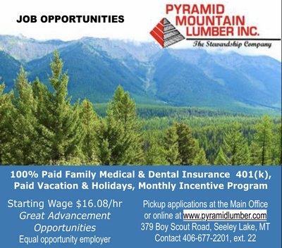 Pyramid Mountain Lumber Company, Inc. Seeley Lake, MT