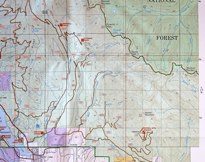 Map of Pyramid Pass Trail - Seeley Lake, MT