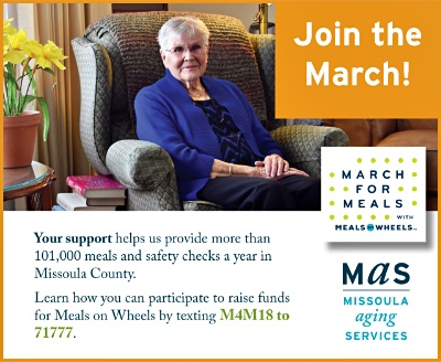 Missoula Aging Services - Join the March For Meals with Meals on Wheels by Texting M4M18 to 71777