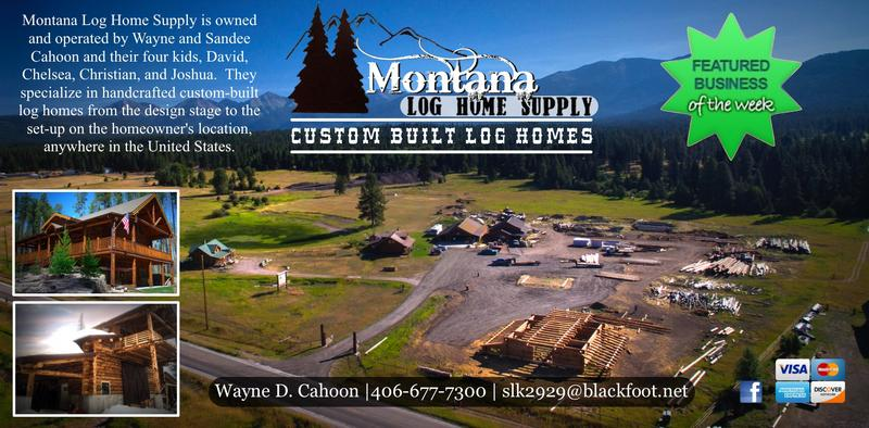 Montana Log Home Supply - Featured Business of the Week (week ending March 24, 2018). Specializing in handcrafted custom-built log homes from the design stage to the set-up on the homeowner's location anywhere in the United States.