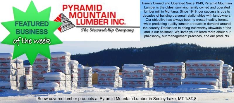 Seeley Lake Featured Business of the Week (week ending Jan. 20, 2018) - Pyramid Mountain Lumber Inc.
