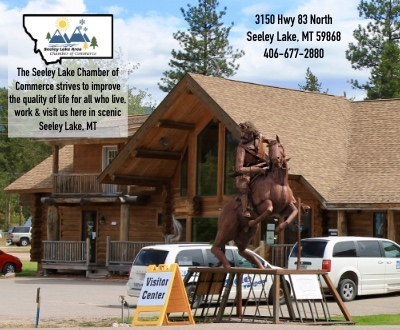 The Seeley Lake Chamber of Commerce strives to improve the quality of life for all who live, work and visit us here in scenic Seeley Lake, Montana. 3150 Hwy 83 North, Seeley Lake, MT 59868 | Phone 406-677-2880