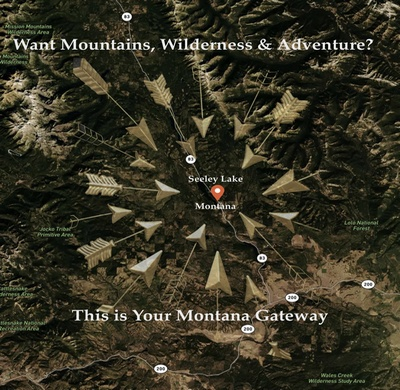 Want Mountains, Wilderness and Adventure?  This is your Montana Gateway!  Seeley Lake, Montana.