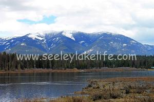 Seeley Lake with the Swan Range Mountains as backdrop