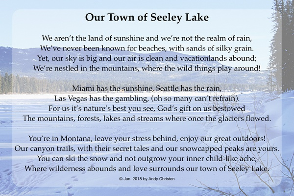 Our Town Of Seeley Lake (Montana) poem by Andy Christen