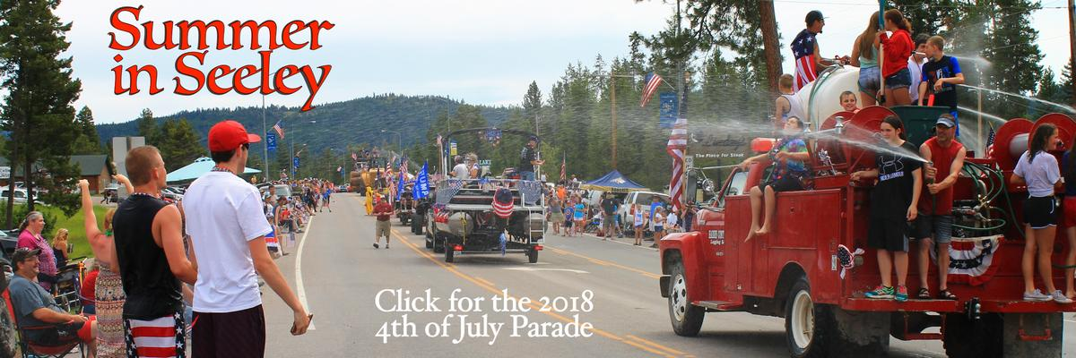 Seeley Lake 2018 4th of July Parade - Summer in Seeley