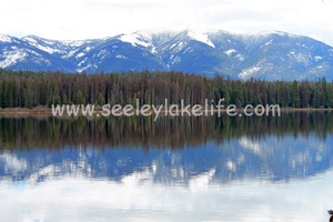 Beautiful Seeley Lake Montana with the Swan Range as a backdrop