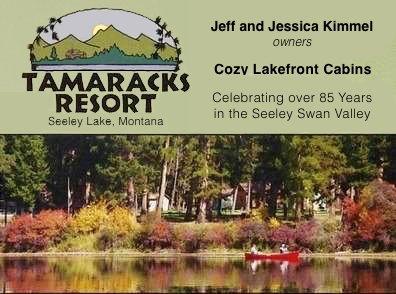 TAMARACKS RESORT, SEELEY LAKE, MT, Cozy Lakefront Cabins, Celebrating over 85 years in the Seeley-Swan Valley, 3481 Hwy 83 N, Seeley Lake, MT 59868, 406-677-2433, 800-477-7216, www.tamaracks.com, info@tamaracks.com