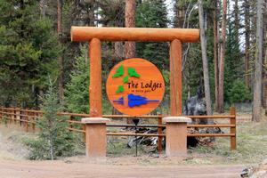 The Lodges on Seeley Lake wooden sign