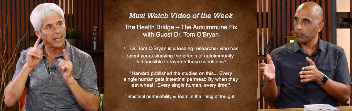 The Health Bridge - The Autoimmune Fix with Guest Dr. Tom O'Bryan. Every single human gets intestinal permeability when they eat wheat! Every single human, every time!