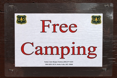 Camping at Big Larch Campground is FREE until after Memorial Day and then it is $10 per night.