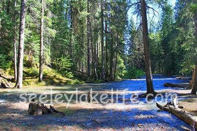 Morrell Creek immediately below Morrell Falls near Seeley Lake, Montana