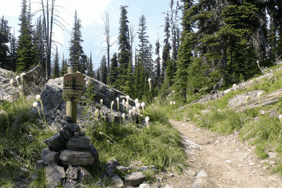 Bob Marshall Wilderness Boundary on Pyramid Pass Trail 416, Seeley Lake, MT